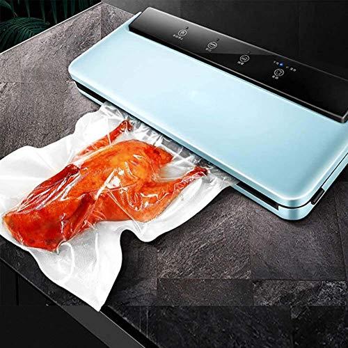 DXQDXQ Ice Elettrico Multifunzione Macchina Sottovuoto per Alimenti Automatico Manuale Sigillatore Sottovuoto per Alimenti Freschi Secchi Umidi Domestico Uso Aziendale Proprio Home (Color : Blue)