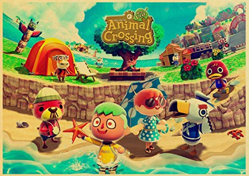 Simayi Game Animal Crossing Poster Wall Art Painting Posters and prints Children's room decoration poster 50x70cm iG-3259
