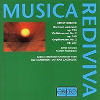 Krenek - Horizon circled, Op. 196; Violin Concerto No. 2, Op. 140; Organ Concerto No. 2. op. 235 by Ernst Kovacic (2000-09-06)