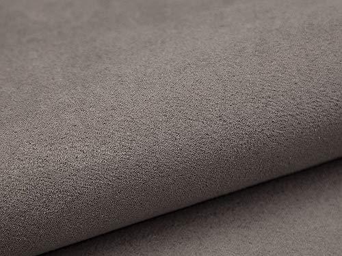 Lederkonzept Alcala Stoff Meterware Wildleder-Imitat Velours Microfaser Möbelstoff Polsterstoff 60 Grau