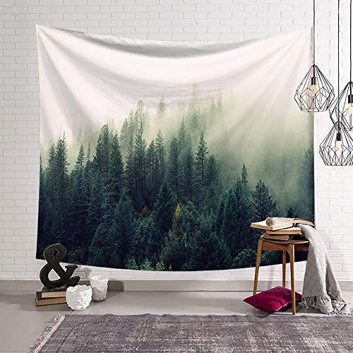 Boyouth Forest Tapiz para Colgar en la Pared, diseño de Bosque neblinoso, impresión Digital, Tapiz de Pared, decoración del hogar, Mural, Toalla de Playa