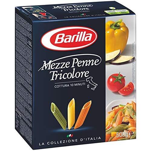 Barilla 500g, Mezze Penne tricolore 5 x 500 g