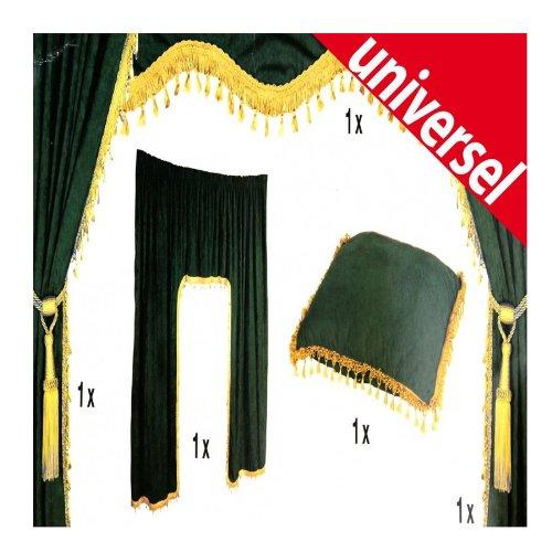LKW Universal Gardinenset schwarz/gold 5tlg. Dekoration Innenausstattung