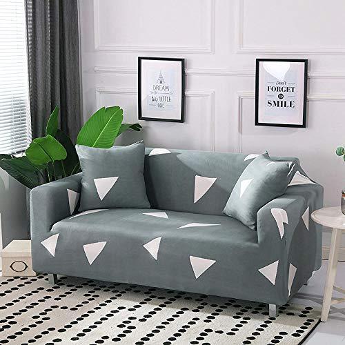 HTEZGDB - Universele Sofa Cover Stretch Sofa Cover Sofa Arm Protector Covers, Zacht en Comfortabel Bescherm de Bank (2 zits: 145-185cm, Driehoek, Licht Groen)