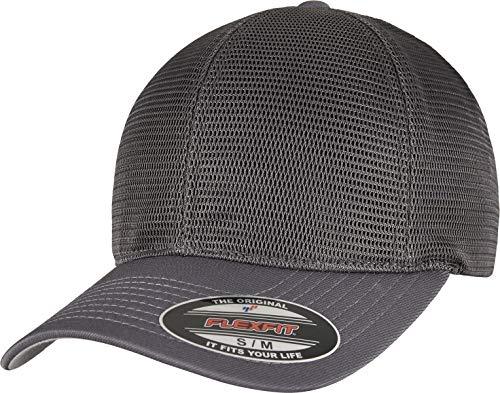 Flexfit Unisex 360 OMNIMESH Cap Baseballkappe, Charcoal, L/XL