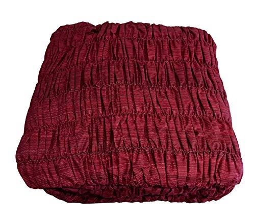 Confezioni.Giuliana Copridivano angolare Universale Arricciato Bordeaux Melange 5 posti