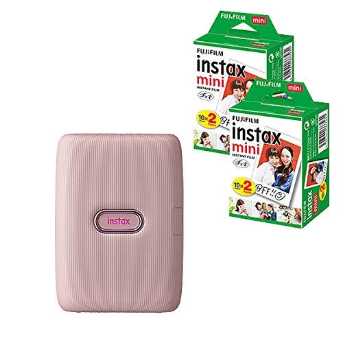 富士フイルム スマートフォン用プリンター チェキ instax mini Link ダスキーピンク &フィルム40枚3点セット
