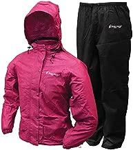 frogg toggs Women's Standard Classic All Purpose Rain Suit, Cherry/Black, Medium