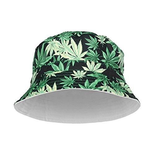 Chapeau d'été. Chapeau de fête, style funky imprimé, délavé. Mode unisexe, Hip Hop. - multicolore -