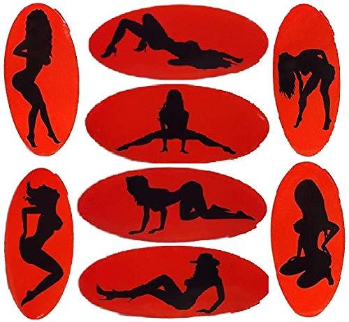 8 Aufkleber sexy Lady 20cm Girl nackte Frau Sex Striptease Sticker GOR 76/7154 B