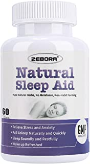 Sleep Aid, Natural Herb Sleeping Pill for Adults -Stress, Insomnia, Anxiety Relief - Faster Absorption Dissolve Tablets Easy to Take, Maximum Strength Supplement, Helps Sleep Better & Wake Up Restored
