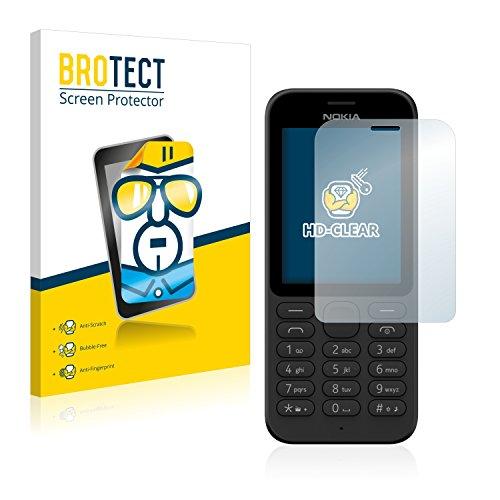 BROTECT Schutzfolie kompatibel mit Microsoft Nokia 215 (2 Stück) klare Bildschirmschutz-Folie