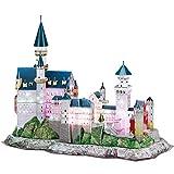 CubicFun 3D Puzzle Neuschwanstein Castle(con Leds) Regalos de Arte para Adultos, 128 Piezas