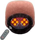 Aront Fußmassagegerät mit Fernbedienung,2 in 1 Shiatsu Fußwärmer mit Wärmefunktion für Nacken...