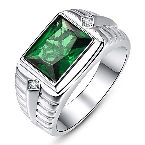 BONLAVIE Men Signet Celtic Rings Infinity Stones Jewelry for Valentine's Father's Wedding Engegament Promise Day Gift for Dad Husband Boyfriends Size 7