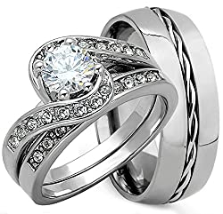 2379783ee2 It is our first choice as a matching promise ring. The rings are made of solid  sterling silver and 8mm titanium band. The twisted structure makes the more  ...