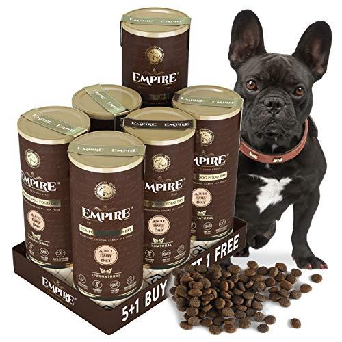 Empire Trockenfutter für Erwachsene Hunde - 6x340g - 5+1 - Premium Getreidefreies Hundefutter - Kleine Rassen - Hypoallergen - Glutenfrei - 50% Frisches Wildfleisch und Wildschweinleber - Natürlich