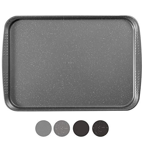 BINO Bakeware Nonstick Cookie Sheet Baking Tray, 14 x 20 Inch - Speckled Gunmetal | Premium Quality Baking Sheet with Nonstick Technology | Dishwasher Safe | Non-Toxic