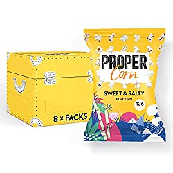 NATURAL SEASONINGS - ProperCorn only uses fresh and natural seasonings to flavour up every corn kernel in each pack. WIDE RANGE OF FLAVOURS - This recipe comes in a combination of natural sea salt and sweet Demerara sugar, a perfect pair to your favo...