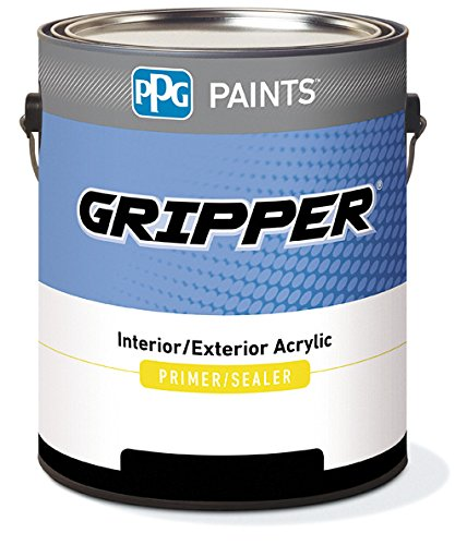 3210-1200G/01 Acrylic Primer, Non-Flat, 1 gal, Gripper, Interior and Exterior Primer, White