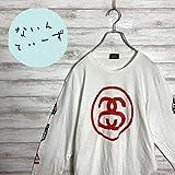 ステューシー シャネルロゴ スリーブロゴ ホワイト Tシャツ ロンT