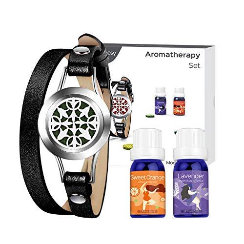 VicTsing Juego de Brazaletes de Aromaterapia con 2x5 ml de