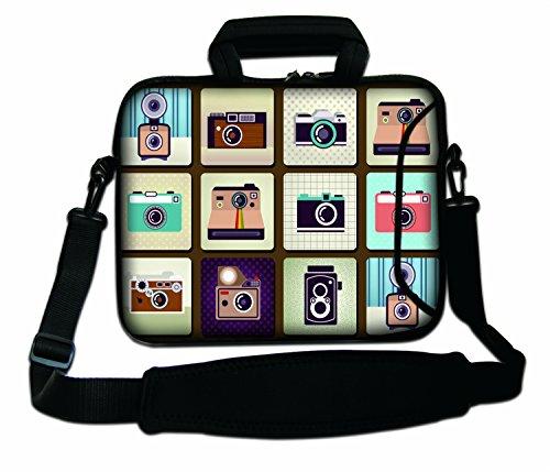 Luxburg® 15,6 Zoll Schultertasche Notebooktasche Laptoptasche Tasche mit Tragegurt aus Neopren für Laptop/Notebook Computer - Fotokameras