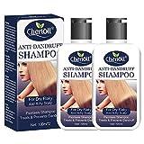Anti-Schuppen Shampoo, Anti Dandruff Shampoo, Hilfe gegen Schuppen und juckende Kopfhaut, Anti Schuppen und Öl-Kontrolle, Juckende und Trockene Kopfhaut,2pc