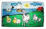 Fahne / Flagge Kühe und Schafe + gratis Sticker, Flaggenfritze®