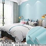Tapete Selbstklebende Schlafzimmer Raumdekoration Aufkleber Wasserdicht Wandaufkleber wasserdichte Tapete selbstklebende feuchtigkeitsbeständige Aufkleber Tapete einfarbig-60 cm * 5 m_Babyblau