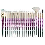 WCY 20 Conjunto de Cepillo de Maquillaje Herramienta de Belleza Diamante Pincel de Maquillaje Conjunto de Cepillo de Sombra de Ojos de Varilla Larga.20 B.S. yqaae (Color : 20 Emodels.)