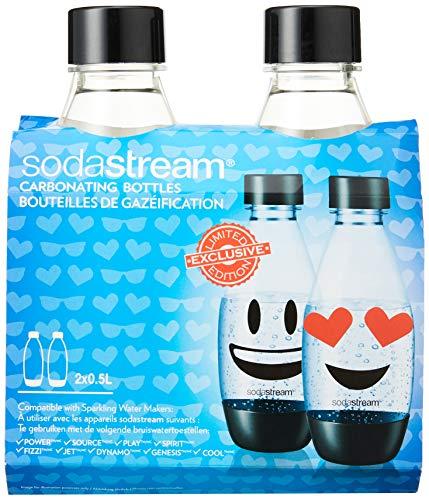 sodastream black bottle duo 1/2 liter emoji pour Spirit, Source, Power, PLay