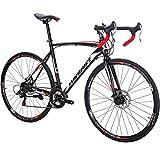 Eurobike Adult Road Bike,XC550 21 Speed 700C Spoke Wheels,Dual Disc Brake,Cool Bicycle
