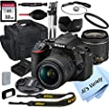 Nikon D5600 DSLR Camera with 18-55mm VR Lens + 32GB Card, Tripod, Case, and More (18pc Bundle) from Al's Variety-Nikon intl