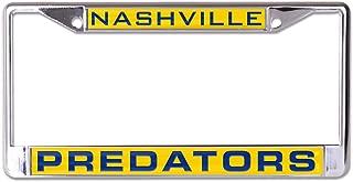 NHL Nashville Predators Inlaid Metal License Plate Frame, 2-Tag Corners