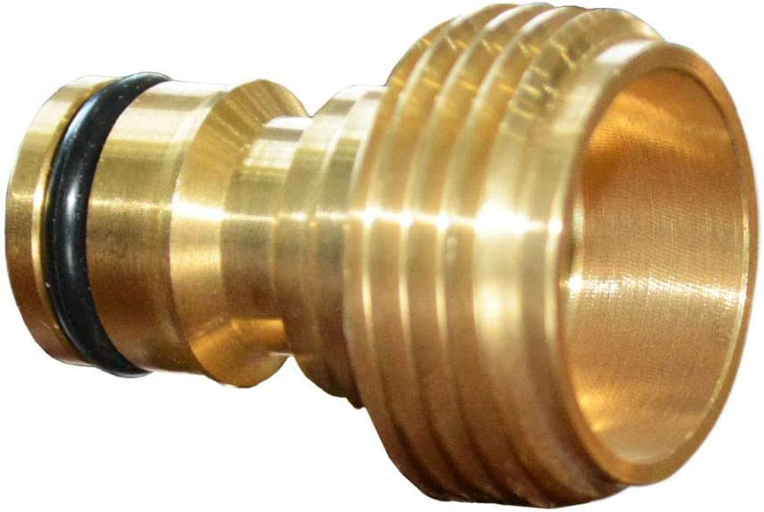 6 pcs HQMPC Garden Hose Quick Connector Hose Quick Connect 3//4 inch Male GHT Brass Nipple Easy Connect Fitting Male Only