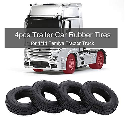 Donci 4pcs Trailer Car Rubber Reifen für 1/14 Tractor Truck RC Climber Trailer