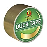 Duck 280748 Duct Tape Single Roll, 1.88 Inches x 10 Yards, Metallic Gold