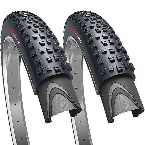Fincci Paar 27.5 x 2.35 Zoll 60-584 Faltbar Reifen für Rennrad Mountain MTB Schlamm Schmutz Offroad Fahrrad (2er Pack)