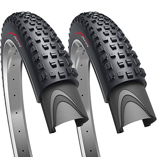Fincci Pair 27.5 x 2.35 Inch 60-584 Foldable Tyres for Road Mountain MTB Mud Dirt Offroad Bike Bicycle (Pack of 2)