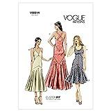 VOGUE PATTERNS V8814 - Patrones de Costura para Vestidos de Mujer (Tallas 34 a 42)
