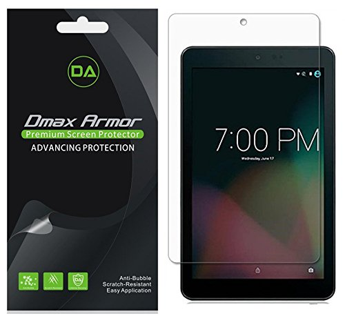 [3-Pack] Sprint Slate 8 inch (AQT80) Screen Protector, Dmax Armor Anti-Glare & Anti-Fingerprint Shield - Lifetime Replacements Warranty- Retail Packaging