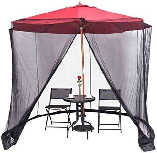 Paraguas Mosquitera para Gazebo – Jardín Exterior Mosquitera for sombrilla, paraguas al aire libre tabla de pantalla Mosquitero Aberturas Red Cortinas acampar ropa de cama anti-insectos anti-mosquitos