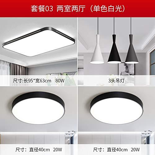 Wohnzimmer Lampe moderne minimalistische Beleuchtung Schlafzimmer Kronleuchter atmosphärischen Raum LED Deckenlampe Beleuchtung Paket 95 * 63CM Champagner-Paket