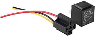 Automobile Relay, JD1912 DC 12V 40A Automobile Vehicle Car 4-Pin Relay With Cable