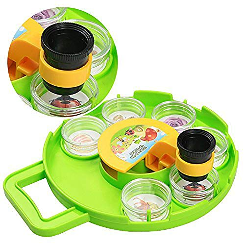 BARMI Kids Microscope Bug Catcher Viewer Set Magnifier Collection Case Explorer Toy,Perfect Child Intellectual Toy Gift Set