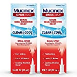 Mucinex Sinus-Max Nasal Spray Clear & Cool, 0.75 oz (Pack of 2) Packaging May Vary)