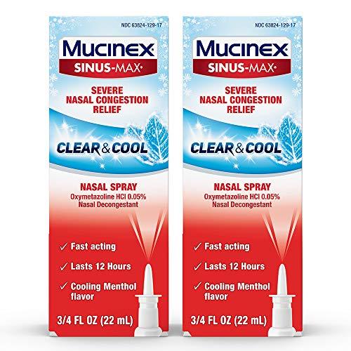 Mucinex Sinus-Max Nasal Spray Clear & Cool, 0.75 oz Packaging May Vary...