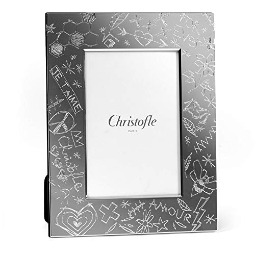 Christofle Graffiti Silver-Plated 5x7 Picture Frame #4256092