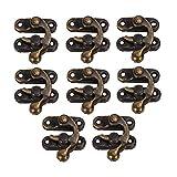 BQLZR Vintage candado de Bronce aldaba para candado Gancho Cuernos de Hierro Candado para Joyero 8 Unidades